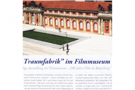 "Magazin Quartett: Die ""Traumfabrik"" im Filmmuseum (September 2011)"